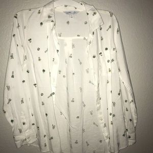 Succulent button down shirt